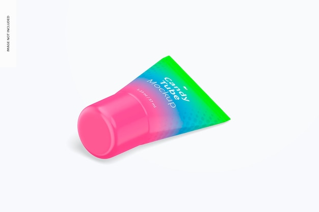 Мокапы candy tube на 1,23 унции Premium Psd
