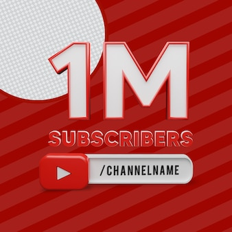 1 миллион подписчиков с названием канала 3d-рендеринг