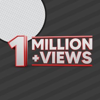 1 million views 3d render