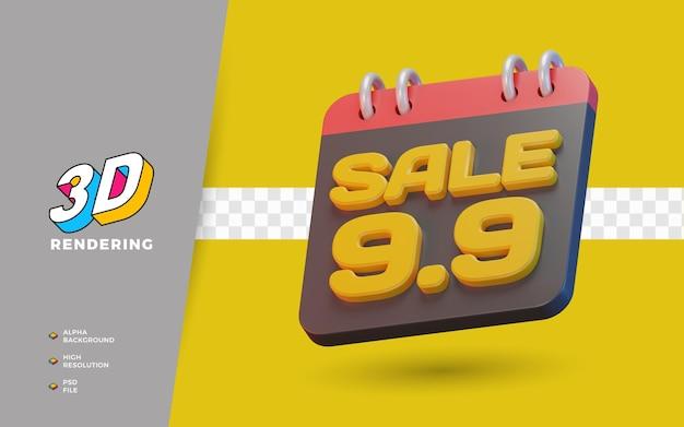 10.10 쇼핑의 날 판매 촉진 3d 렌더링