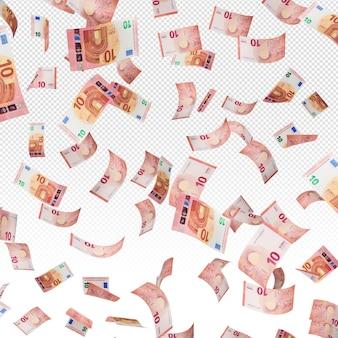 Банкноты 10 евро деньги 3d визуализации