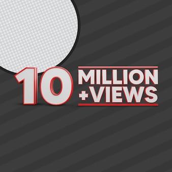10 million views 3d render