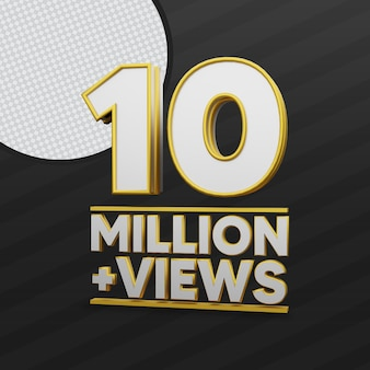 10 million views 3d rendering