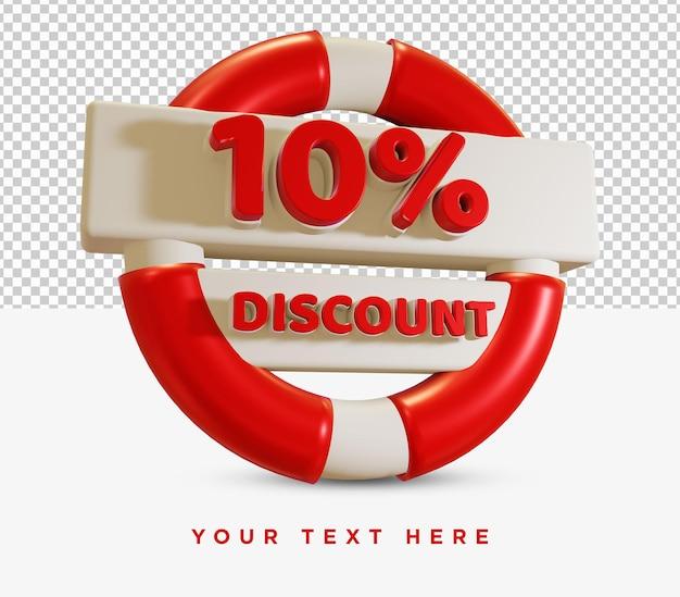 10 percent discount summer sale rendering