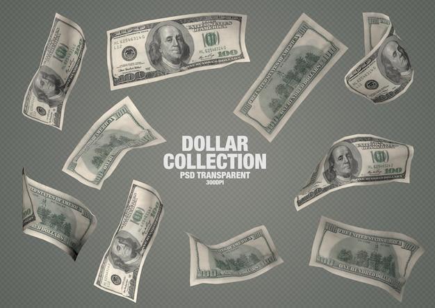 Коллекция 100 долларов - 10 изолированных банкнот