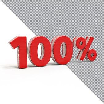 100% красный 3d номер