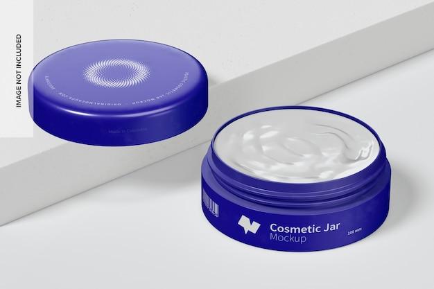 100mm plastic cosmetic jar mockup