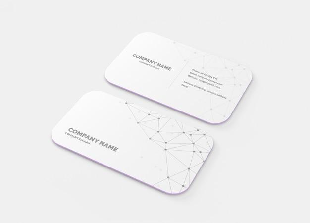 Макет визитной карточки с круглым углом 10мм