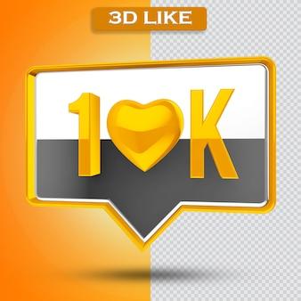 10k 아이콘 투명 3d