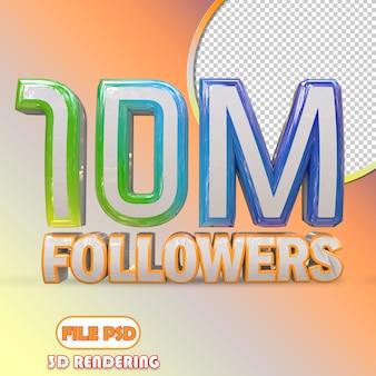 10m followers