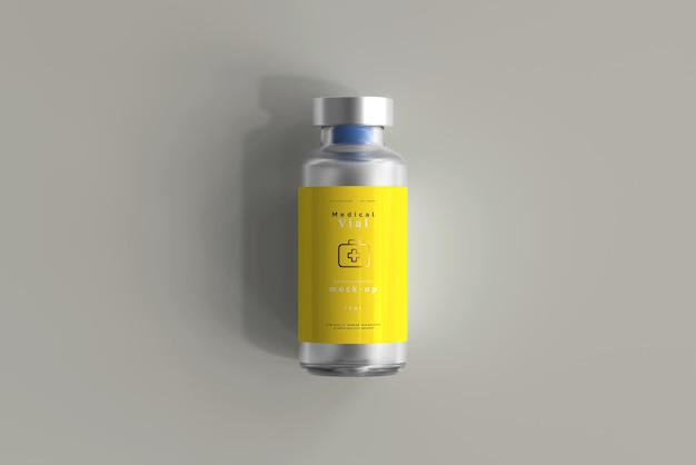 Flacone da 10 ml mock up