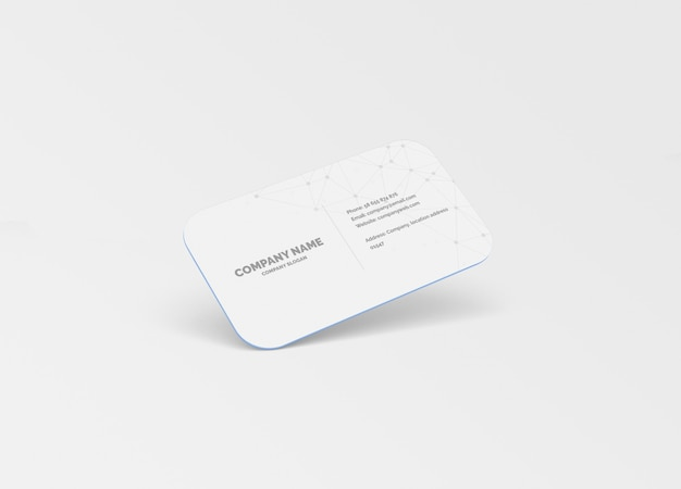 10mm round corner business card mockup