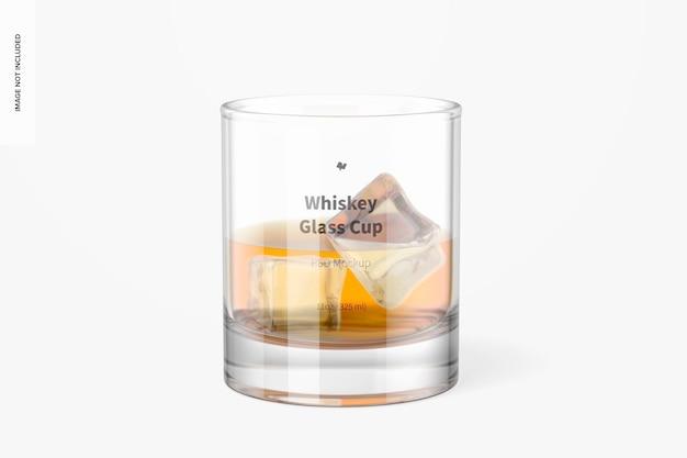11オンスウイスキーグラスカップモックアップ、正面図