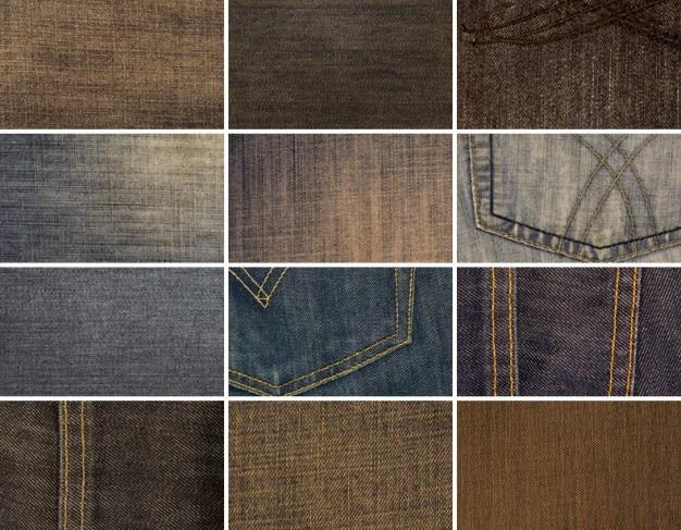 12 high resolution denim textures