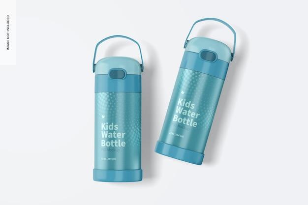 Мокап детской бутылки с водой на 12 унций