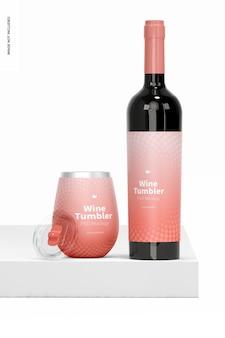 Мокап бокала для вина на 12 унций