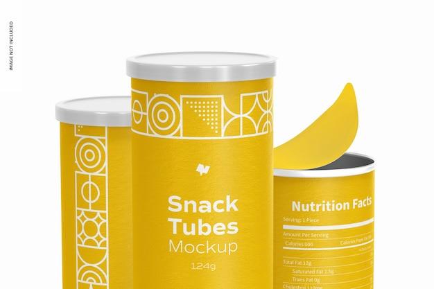 124g snack tubes mockup