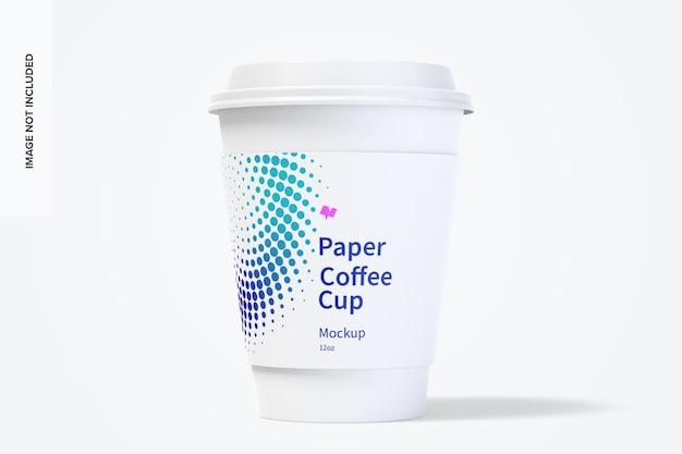 12オンスの紙のコーヒーカップのモックアップ
