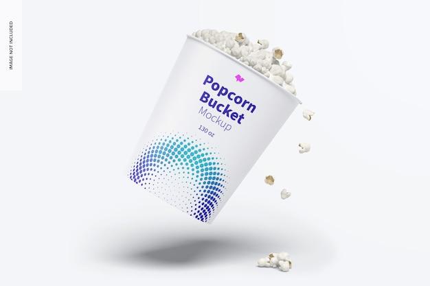 130 oz popcorn bucket mockup