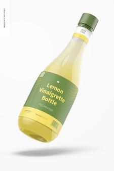 Мокап бутылки с лимонным винегретом на 14,5 унций