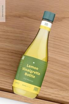 14.5 oz lemon vinaigrette bottle mockup Premium Psd