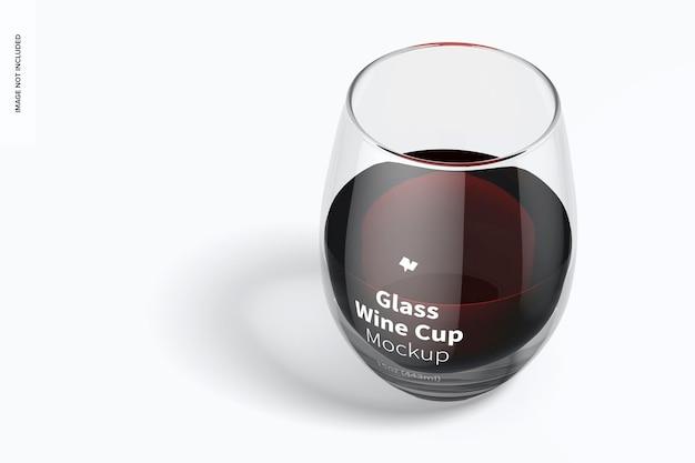 15 온스 유리 와인 컵 모형