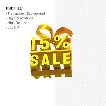 分離された弓とリボンの3dデザインで15パーセントの販売