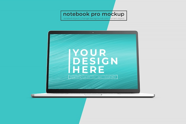 Высококачественный премиум 15-дюймовый ноутбук pro pro макет спереди