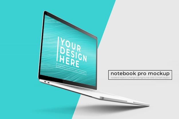 Сменный реалистичный дизайн 15-дюймового ноутбука pro psd макеты в левом и правом положении
