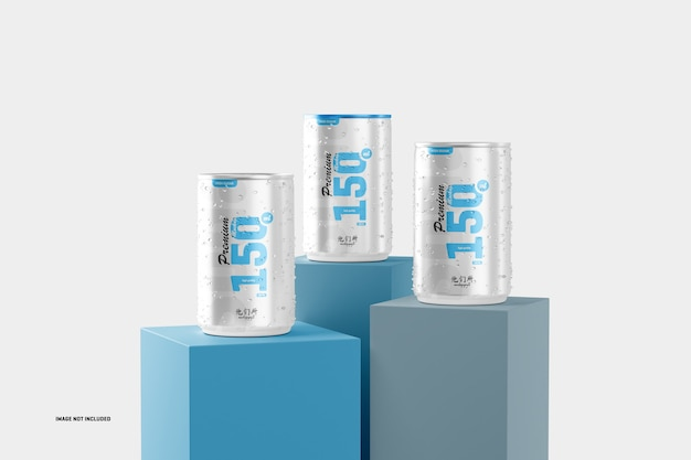 150ml soda cans mockup