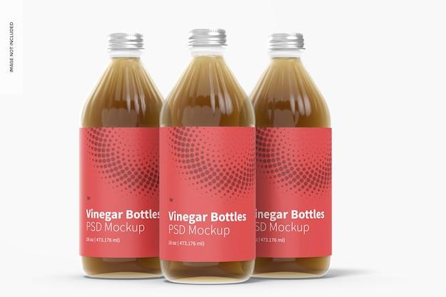 Набор стеклянных бутылок для уксуса на 16 унций Бесплатные Psd