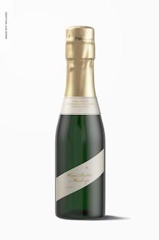 187 ml wine bottle mockup