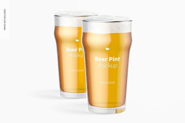 19 온스 맥주 노닉 파인트 유리 모형