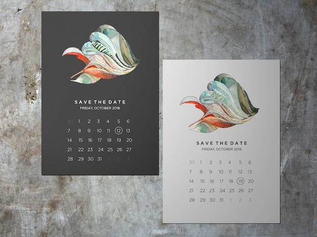 結婚式日付を保存、1つの直面している抽象的なテーマカード