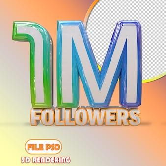 1m followers