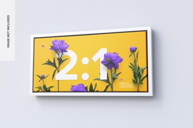 2:1 landscape frame mockup