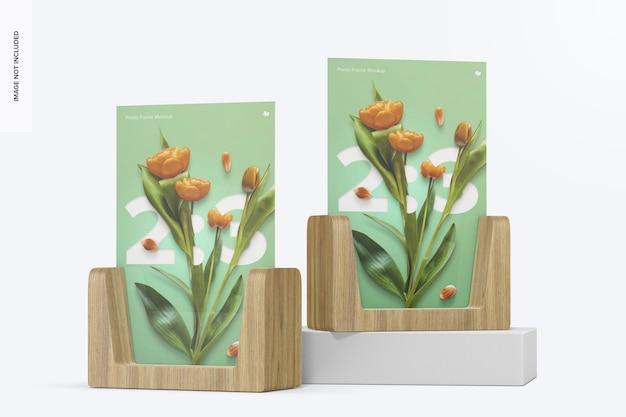 2:3 photo frames mockup, perspective
