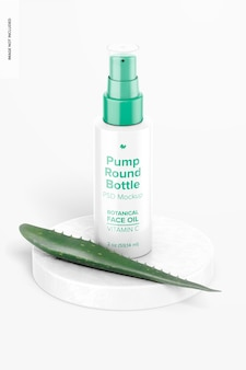 2 oz pump round bottle mockup