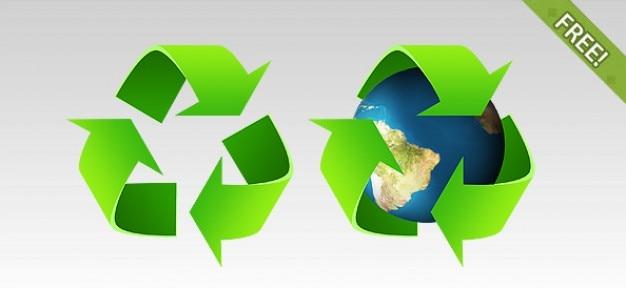2 simboli di riciclaggio psd