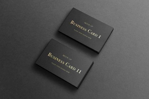 골드 스탬핑 옵션으로 어두운, 모형에 2 스택 sof 블랙 비즈니스 카드