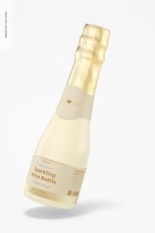 200mlのスパークリングワインボトルのモックアップ