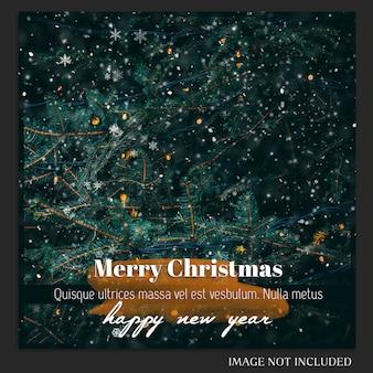 クリスマスと新年あけましておめでとうございます2019写真モックアップとinstagram post