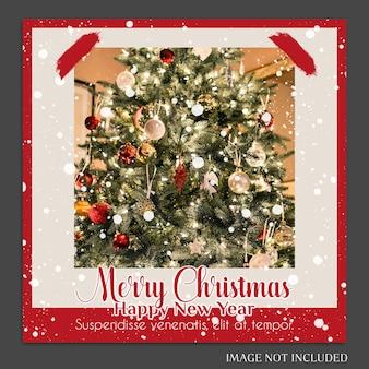 Рождество и новый год 2019 фото макет и шаблон шаблона instagram