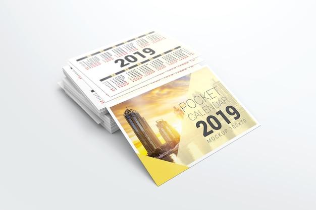 Pocket Calendar.2019 Pocket Calendar Mockup Psd File Premium Download