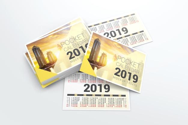 2019 pocket calendar mockup