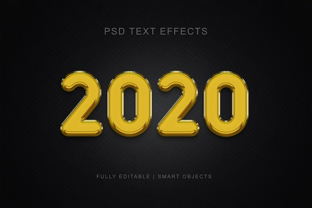 2020 balloon style text effect