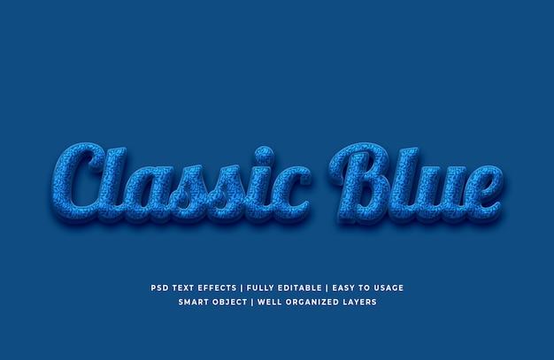 2020年のテキスト効果の古典的な青色