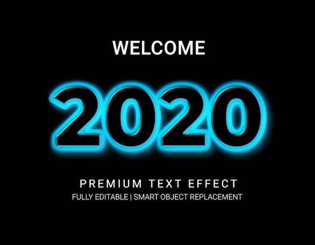 2020ネオンテキスト効果
