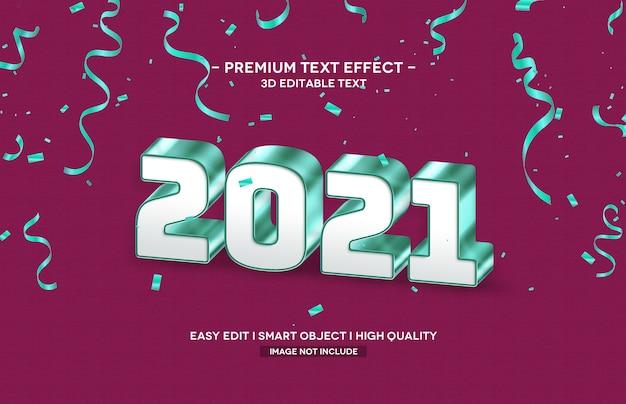 Шаблон эффекта стиля 3d-текста 2021 года