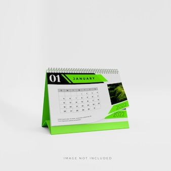 Дизайн макета настольного календаря на 2022 год